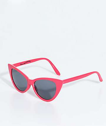 Petals & Peacocks Meow Meow Baby Pink Sunglasses