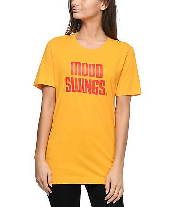 Petals & Peacocks Mood Swings Record camiseta en color oro