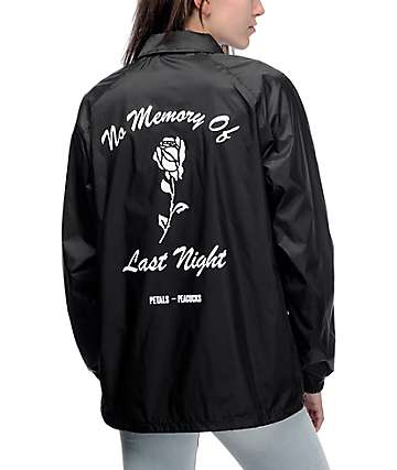 Petals And Peacocks No Memory Black Coaches Jacket