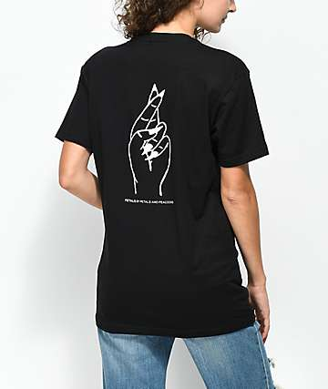 Petals by Petals & Peacocks Pretty Liar Black T-Shirt