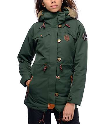 Picture Katniss Dark Green 10K Snowboard Jacket