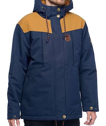 Picture Norse 10K chaqueta con relleno en azul marino y color tabaco