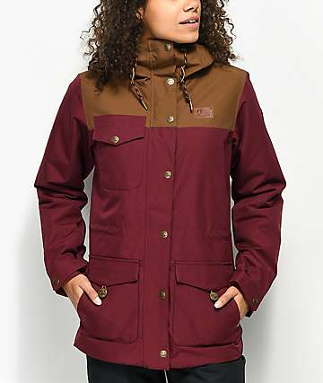 Picture Organic Kate Burgundy 10K Snowboard Jacket