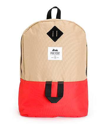 Pine Fort Tan & Red Backpack