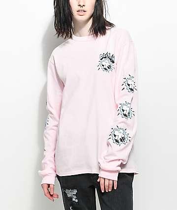 Pink Dolphin Always Wavy camiseta rosa de manga larga