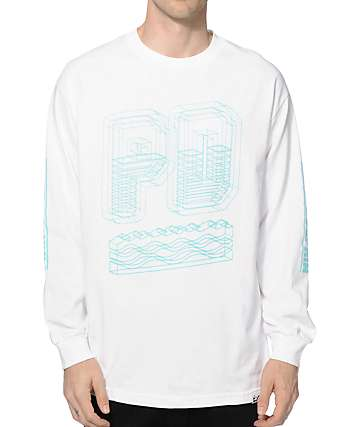 Pink Dolphin Blueprint Long Sleeve T-Shirt