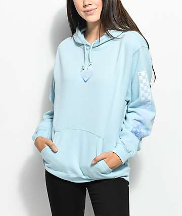 Pink Dolphin Checker Blue Hoodie