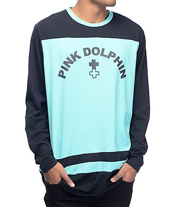 Pink Dolphin Curve Logo Long Sleeve Jersey
