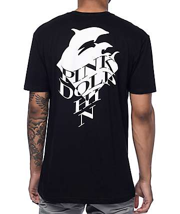 Pink Dolphin Dazed Black T-Shirt