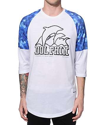 Pink Dolphin Glow Baseball T-Shirt
