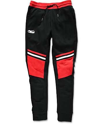 Pink Dolphin Moto Striped Black Sweatpants