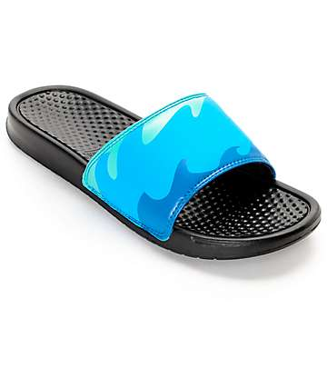 Pink Dolphin Ocean Slide Black Sandals