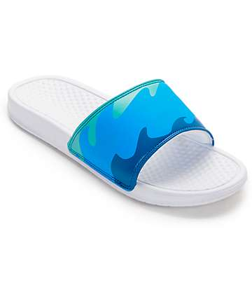 Pink Dolphin Ocean Slide White Sandals