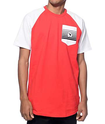 Pink Dolphin Pit Crew Red Pocket T-Shirt