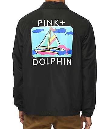 Pink Dolphin Portrait Three chaqueta entrenador