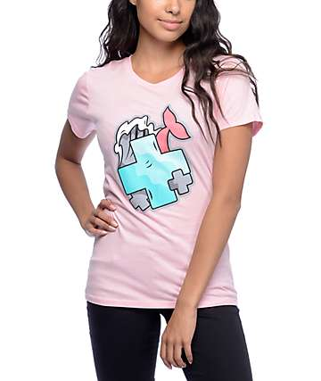Pink Dolphin Posi Wrap Pink T-Shirt