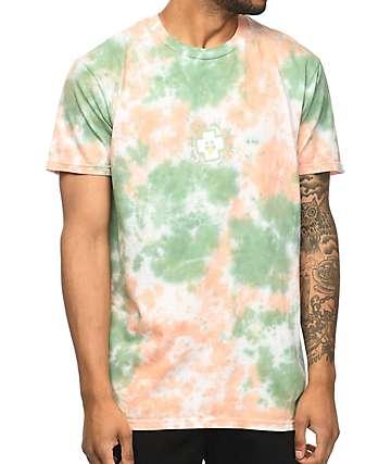 Pink Dolphin Promo camiseta rosa con efecto tie dye