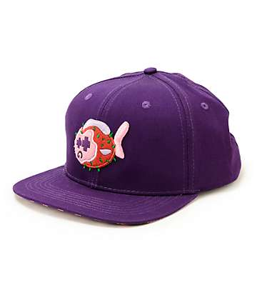 Pink Dolphin Puffer Strapback Hat