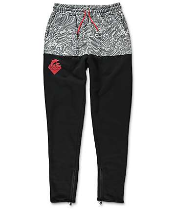 Pink Dolphin Riptide Black Sweatpants