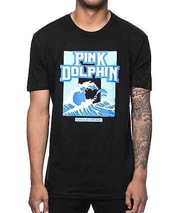 Pink Dolphin Rough Chop Black T-Shirt