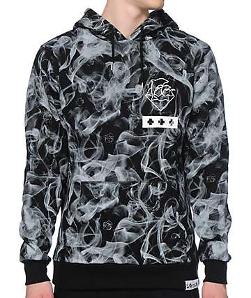 Pink Dolphin Smoke Waves Hoodie
