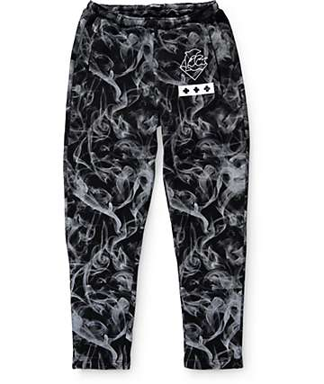 Pink Dolphin Smoke Waves Sweatpants