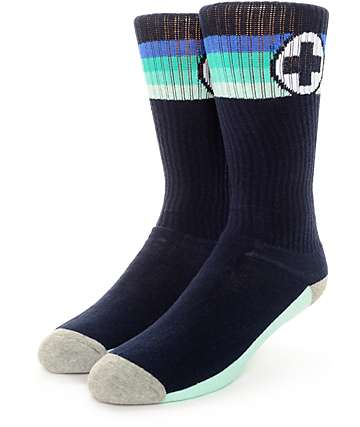 Pink Dolphin Sports Classic Navy Socks