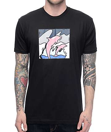 Pink Dolphin Spotlight camiseta negra