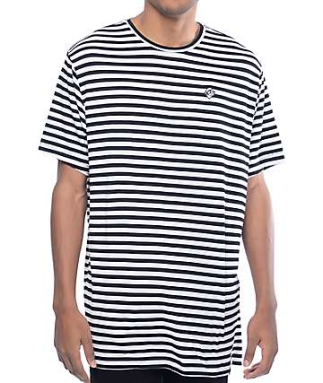 Pink Dolphin Striped Black & White T-Shirt