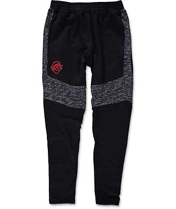 Pink Dolphin Tech Terry Black Sweatpants