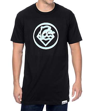 Pink Dolphin Two Tone Wave Seal Black Tall T-Shirt