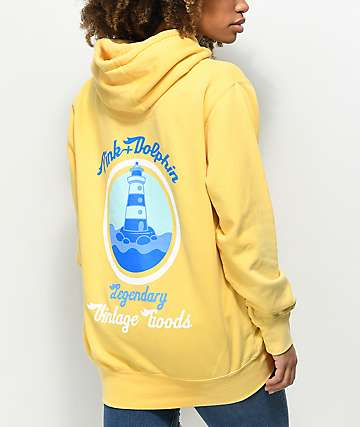 Pink Dolphin Vintage Goods Yellow Hoodie