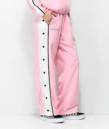 Pink Dolphin Waves Club Snap Button Track Pants