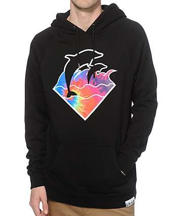 Pink Dolphin Waves Tie Dye Hoodie