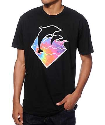 Pink Dolphin Waves camiseta teñida anudado