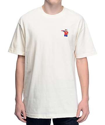 Pizza Bear Cream T-Shirt