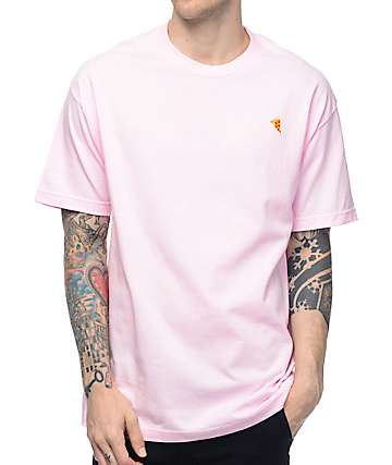 Pizza Emoji Pink T-Shirt
