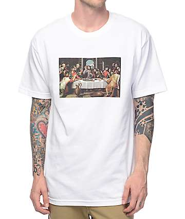 Pizza Last Supper White T-Shirt
