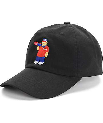 Pizza Skateboards Pizza Bear Black Polo Strapback Hat