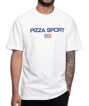 Pizza Skateboards Pizza Sport White T-Shirt