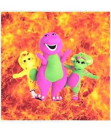 Pizzaslime Barney & Friends Flames Sticker