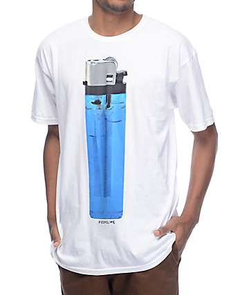 Pizzaslime Big Lighter White T-Shirt