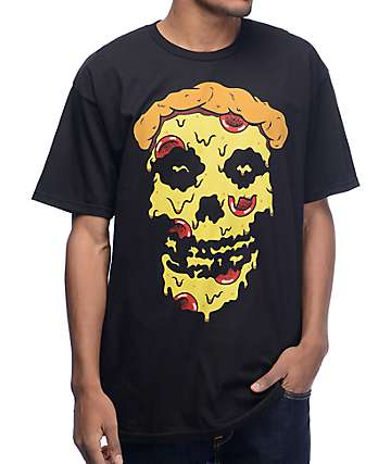 Pizzaslime Death Pizza Black T-Shirt