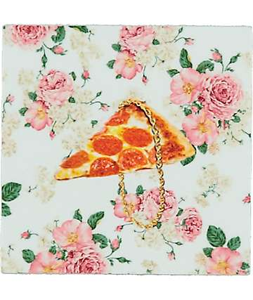 Pizzaslime Floral Pizza Chain Box Sticker