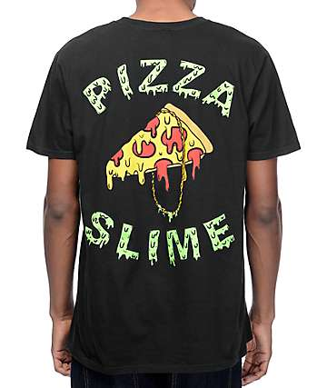 Pizzaslime Gang Logo Black T-Shirt