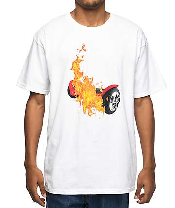 Pizzaslime Hover Board White T-Shirt