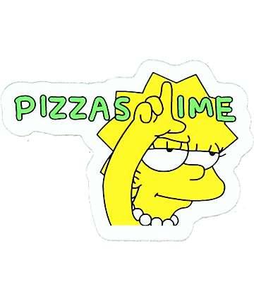 Pizzaslime Lisa Sticker