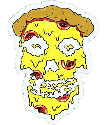 Pizzaslime Melty Skull Pizza Face Sticker