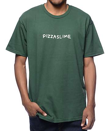 Pizzaslime New Logo Green T-Shirt