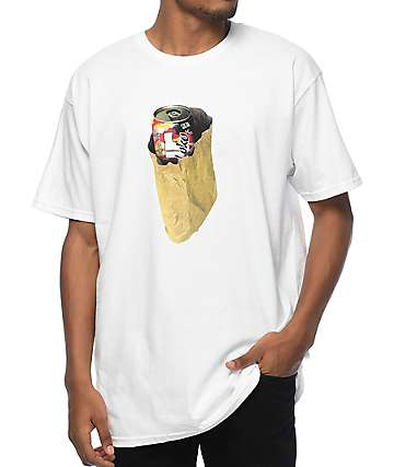 Pizzaslime X Four Loko Bagged White T-Shirt
